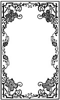 Early Victorian Border from Book Cover, from Gems by the Way-Side: An Offering of Purity and Truth (1878)