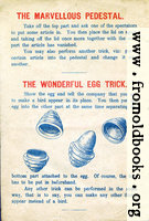 Page 2: The Marvelous Pedestal and The Wonderful Egg Trick.