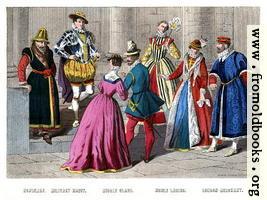 Costumes 1550– 1580.
