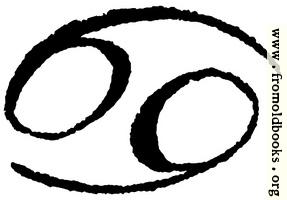 Astrological symbols for Monday: Zodiac Sign Cancer