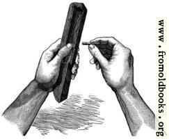 Fifteenth Century Wooden Composing Stick