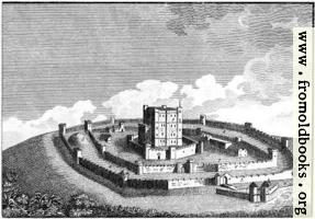 The Mode in which Antient Castles were generally built. (version with no caption)