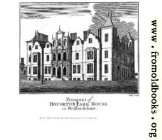 Prospect of Houghton-Park-House in Bedfordshire