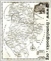 Antique Eighteenth-Century Map of Bedfordshire