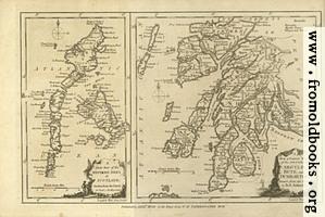 Antique Map of Argyle, Bute and Dumbarton, in Scotland