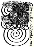 German Gothic Initials - Swirly Fraktur Blackletter Initial Letter G