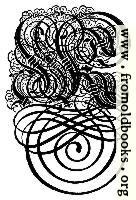 German Gothic Initials - Swirly Fraktur Blackletter Initial Letter K