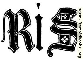 Letters R and S from English gothic Letters, 15th Century
