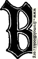"Calligraphic letter ""B"