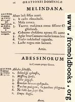 26: Melindana, Abessinorum