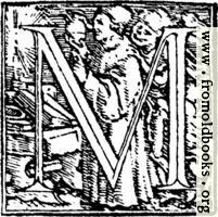 "62m.—Initial capital letter ""M"" from Dance of Death Alphabet."