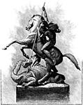 St. George and the Dragon, from Magazine of Art Illustrated (1878)