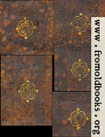 Hoy Court leather-bound spine gold decorations