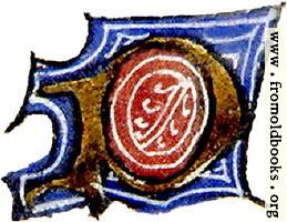 "calligraphy: mediaeval decorative letter ""P"