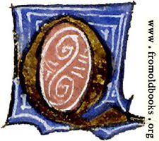 "calligraphy: mediaeval decorative letter ""Q"""