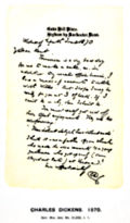 Charles Dickens: Letter Written the Day before His Death