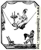 885.—Tightrope artist with table and candles and dwarf.