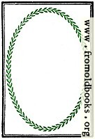 894b.—Full-page border with green laurel leaves.