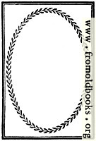 894.—Full-page border with laurel-leaf frame