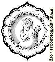 Cherub in Persian-Style Frame
