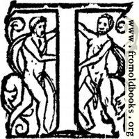 Initial Letter T With Naked People