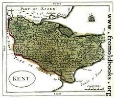Antique map of Kent