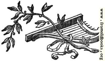 Printer's Ornament with harp and vine