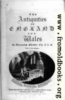 Title Page, Antiquities of England and Wales