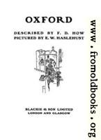Title page, Oxford Pictured by Haslehust, described by How