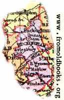 Overview map of Buckinghamshire, England