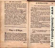 Chapter I, Of Blazon., Section I, Rules of Blazoning in General