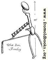 Wrought Iron Firedog