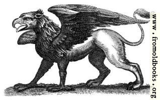 Antique engraving of a gryphon