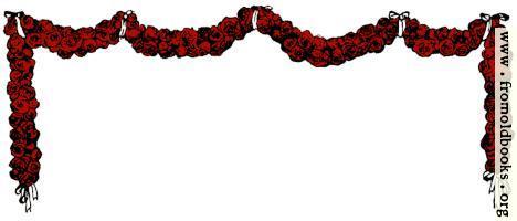 Festoon or Garland of Roses