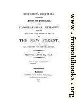 Title Page (Laws... of the New Forest)