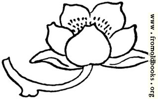typographic ornament: flower pointing right