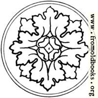 typographic ornament: rosette