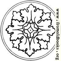 typographic ornament: rosette