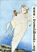 "Frontispiece: ""Yes, there he sat, on the back of the winged horse!"""