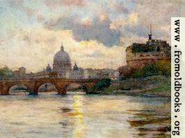 St. Peter's Rome from the River Tiber: wallpaper version