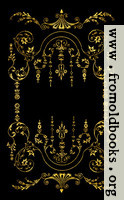 Victorian border, Gold on Black.