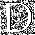 Decorative initial (drop cap) D, from The New World (1671)