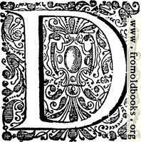 Decorative initial (drop cap) D