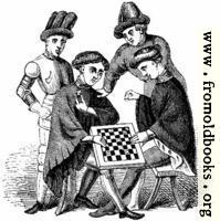 1145.—Playing at Draughts (Harleian MS. 4431)