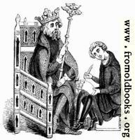 1146.—Chair (Royal M.S. 14 E, iii.)