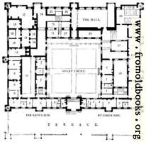1674.—Plan of Buckhurst House, Sussex.