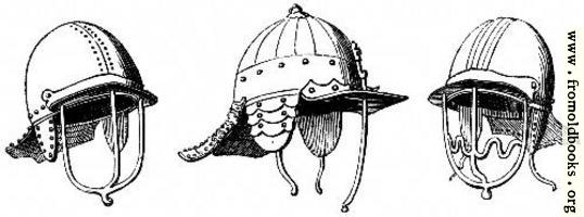 2050.—Helmets, 1645.  (From Specimens at Goodrich Court.)