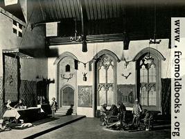 Reconstructed Interior of Fourteenth-century Hall (Penshurst, Kent).