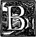 Initial letter B Woodcut, from A Compleat Collection of English Proverbs (1737)