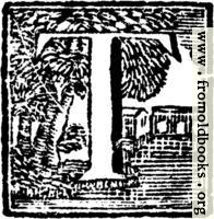 Initial Letter T Woodcut